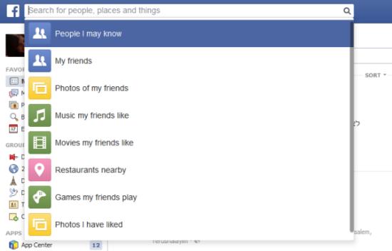 חיפוש בפייסבוק